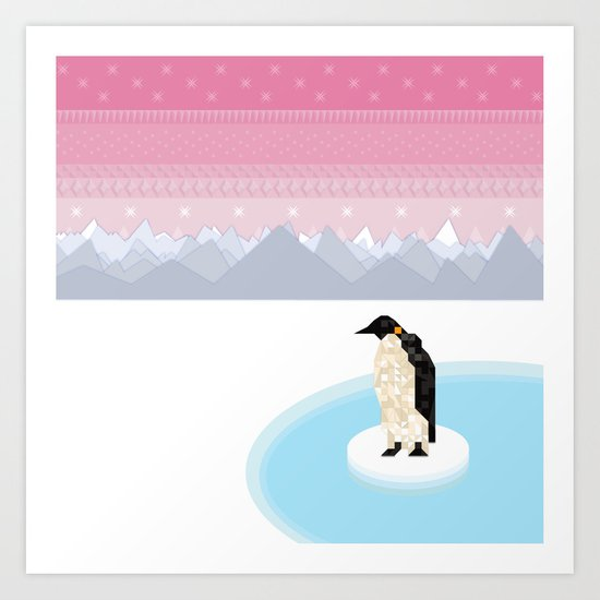 Penguin Time Art Print