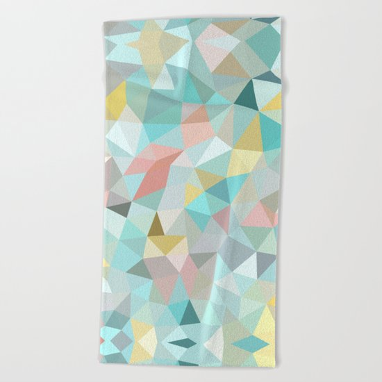 Pastel Tris Beach Towel