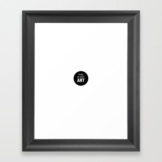 Words of art Framed Art Print