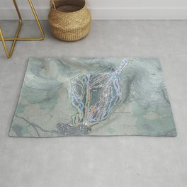 Waterville Valley Resort Trail Map Rug