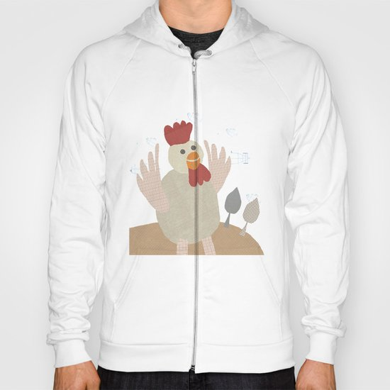 rooster collage Hoody