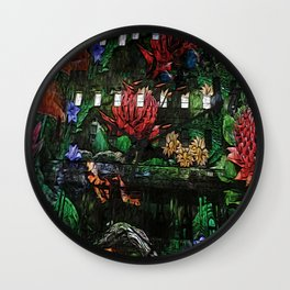 Flowers in the Clocktower Wall Clock