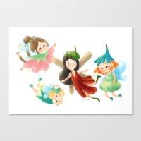 fairies Canvas Prints featuring Fairies by Laura Gómez