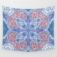 greek Wall Tapestries featuring Greek Summer by RED ROAD STUDIO