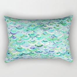 Marble Mosaic in Mint Quartz and Jade Rectangular Pillow