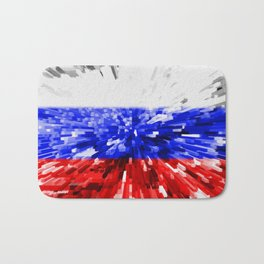 Extruded Flag of Russia Bath Mat