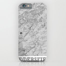 Huddersfield Pencil City Map iPhone Case
