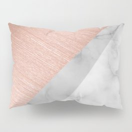 Rose Gold and Marble Pillow Sham
