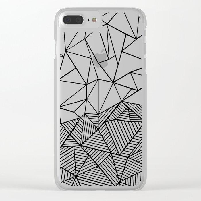 Ab Half n Half Clear iPhone Case