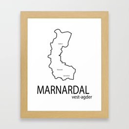 map of marnardal Framed Art Print
