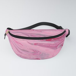 Cherry Hummingbird - Abstract Painting With Pink And Red Swirls Fanny Pack