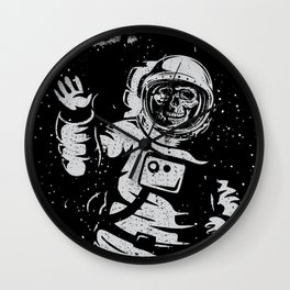 BOO !! Astronaut Skeleton Science Shirts Wall Clock