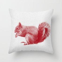 Squirrel 01 Throw Pillow