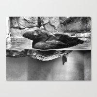 puffin Canvas Prints featuring PUFFIN by Maya Korzhen