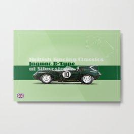 Silverstone Jaguar D-Type Metal Print