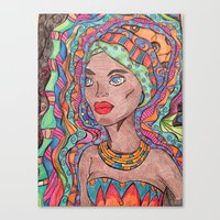 african Canvas Prints featuring African by havana
