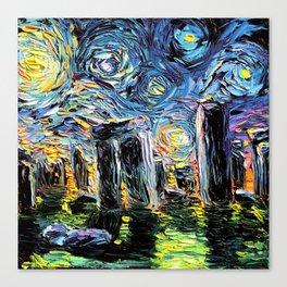 van Gogh Never Saw Stonehenge Canvas Print