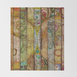 Around the World in Thirteen Maps Throw Blanket