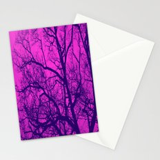Pink and Blue Tree Stationery Cards