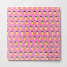 Aloha Pineapples Metal Print