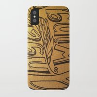 angel wings iPhone & iPod Cases featuring Angel Wings by Eve Beth