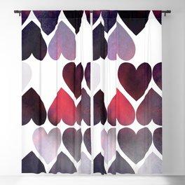 Mod Purple Hearts Blackout Curtain
