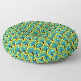 Paon bleu Floor Pillow