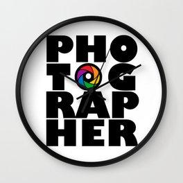 Photographer Wall Clock