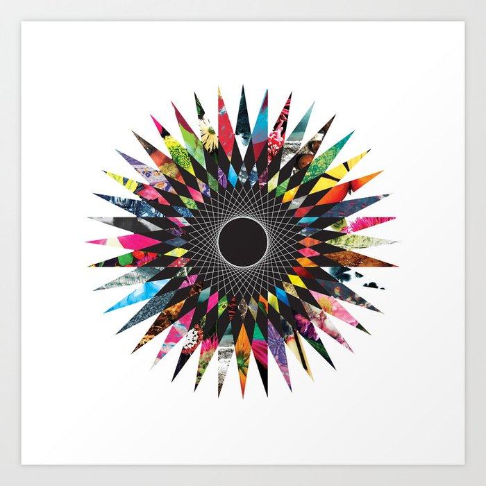 Mandala mixed media  Art Print
