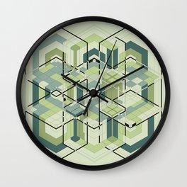 Hexagons #01 Wall Clock