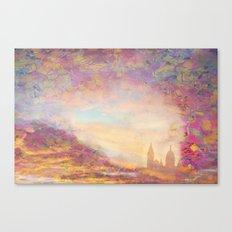 PARIS SACRE COEUR  Gold Canvas Print