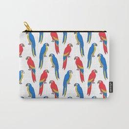 Parrots tropical birds jungle bird parrot art pattern gifts Carry-All Pouch