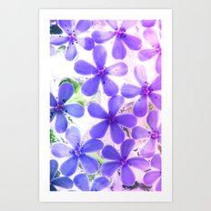 Flowers in crystal 2 Art Print