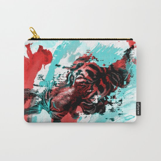 Tiger blue red 4 Carry-All Pouch