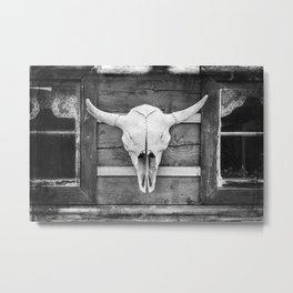 Buffalo Skull Metal Print