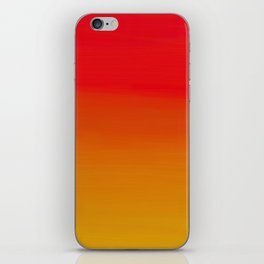 Red Apple and Golden Honey Ombre Sunset iPhone Skin