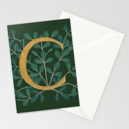 Forest Letter C 2018 Stationery Cards
