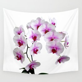 White and red Doritaenopsis orchid flowers Wall Tapestry