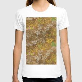 Golden floral japanese pattern T-shirt