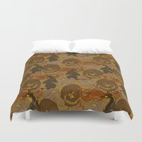 dragons Duvet Covers featuring Dragons by Paper Bicycle