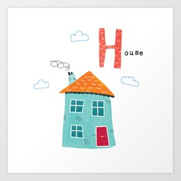 H is for House Art Print
