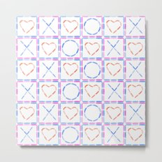 Hearts XOX Metal Print