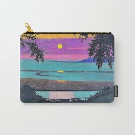 12,000pixel-500dpi - Felix Edouard Vallotton - Sunset at Grace, orange and violet sky Carry-All Pouch
