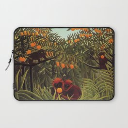 Apes in the Orange Grove by Henri Rousseau 1910 // Colorful Jungle Animal Landscape Scene Laptop Sleeve