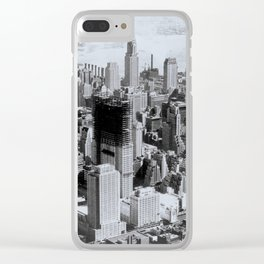 Vintage New York City Clear iPhone Case
