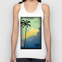 palm trees Tank Tops featuring Palm trees by Winking Lion