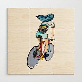 Fixie Girl Wood Wall Art