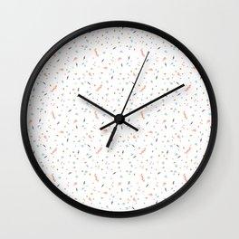 Forest Confetti Wall Clock