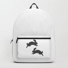 two jumping rabbits, small animals Backpack