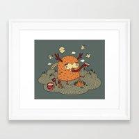 demon Framed Art Prints featuring Demon by bulent gultek